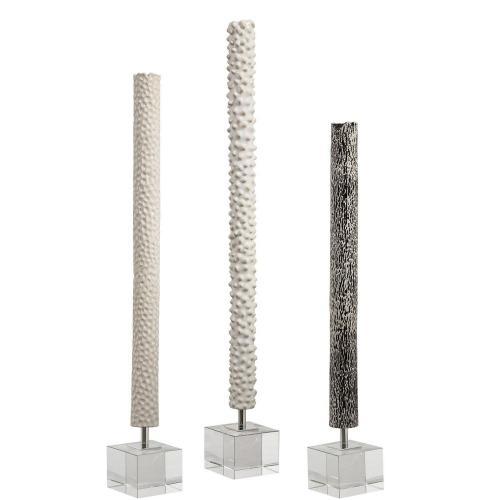 Makira Cylindrical Sculptures - Set of 3