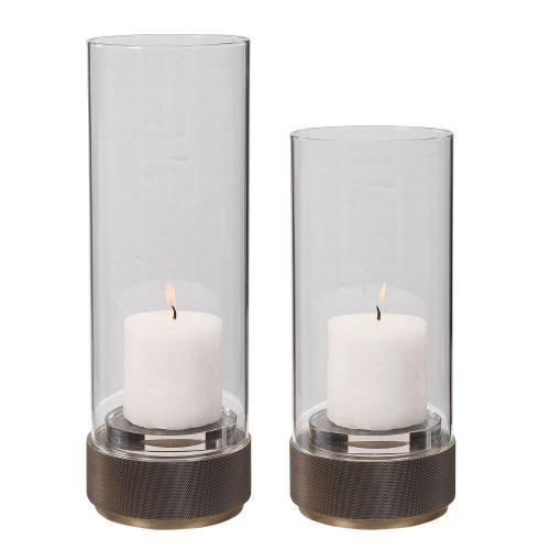 Sandringham Brushed Brass Candleholders - Set of 2
