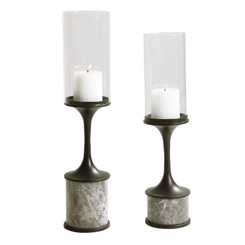 Deane Marble Candleholders - Set of 2