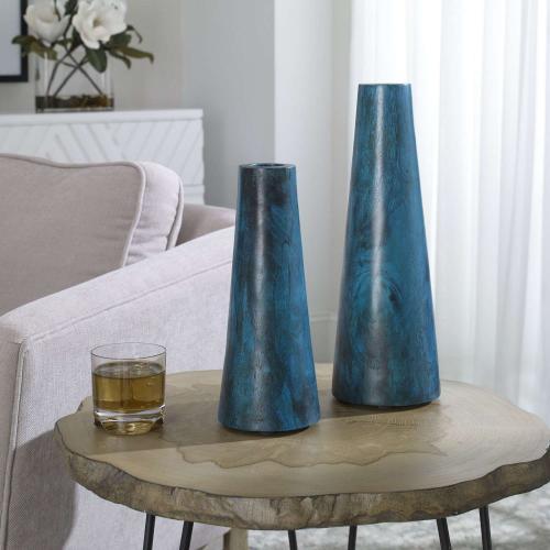 Mambo Vases - Set of 2 - Blue