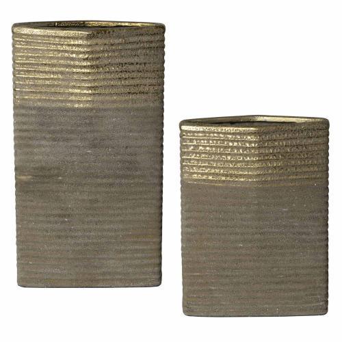 Riaan Ribbed Vases - Set of 2