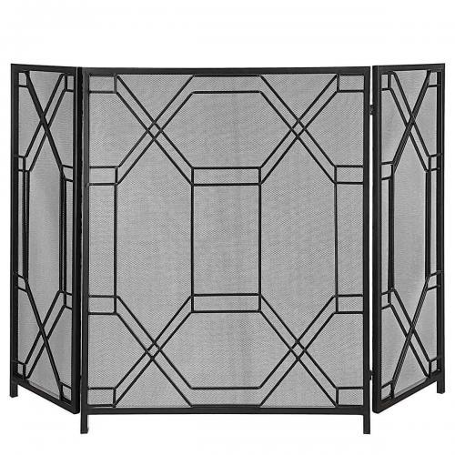 Rosen Geometric Fireplace Screen