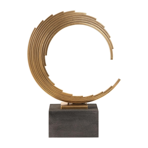 Saanvi Curved Rods Sculpture - Gold