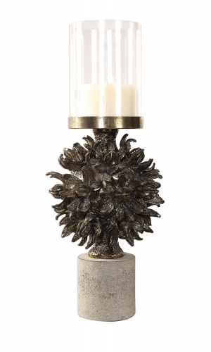 Autograph Tree Candleholder - Antique Bronze