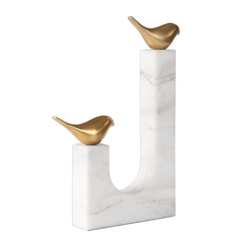 Songbirds Sculpture - Brass