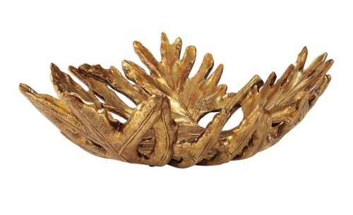 Oak Leaf Bowl - Metallic Gold