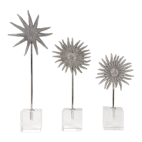 Sunflower Starfish Sculptures - Set of 3