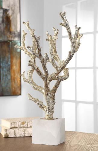 Coraline Coral Sculptures - Silver