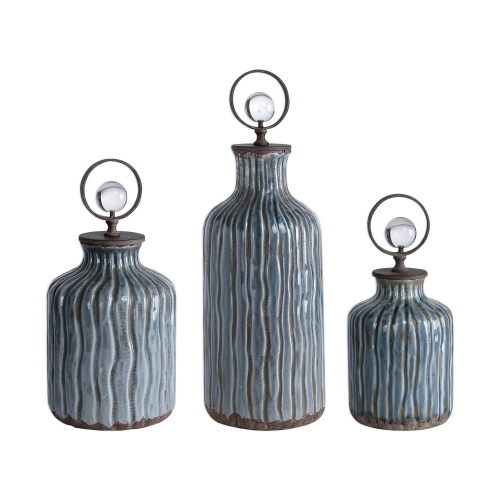 Mathias Vessels - Set of 3 - Grey/Blue
