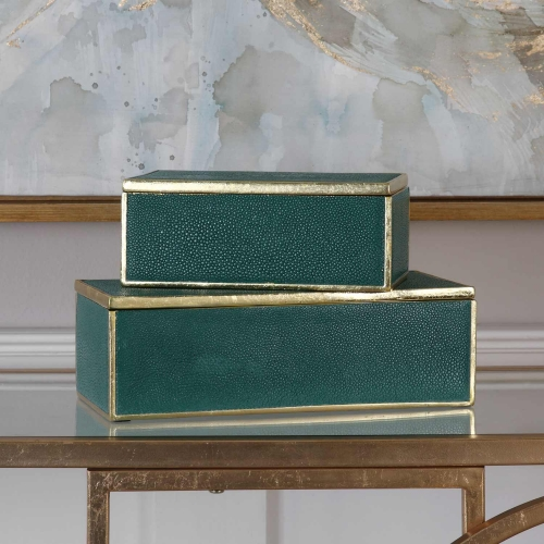 Karis Emerald Green Boxes - Set of 2