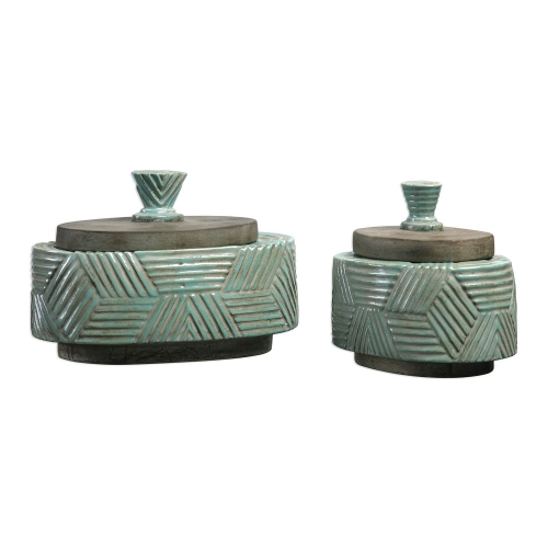 Ruth Ceramic Boxes - Set of 2