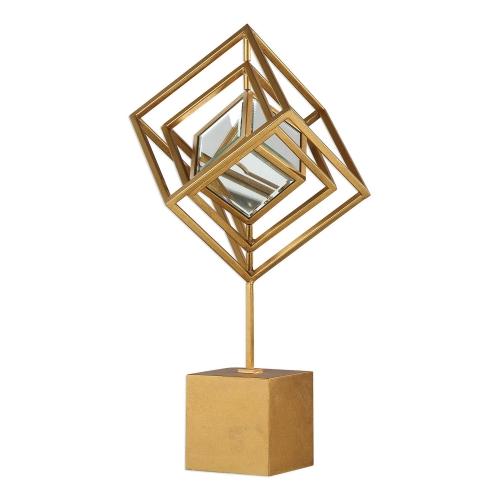 Venya Metallic Sculpture - Gold