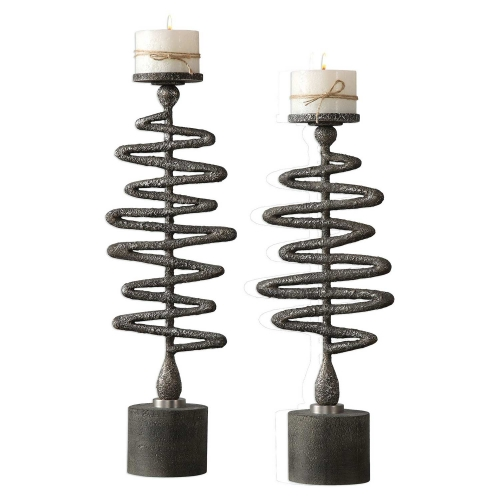 Zigzag Candleholders - Set of 2