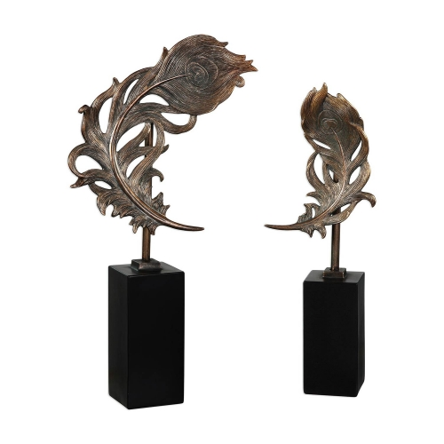 Quill Feathers Sculpture - Set of 2