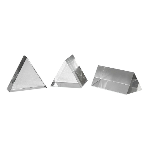 Triangle Trio Sculptures - Set of 3