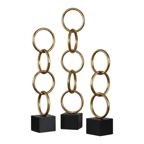 Chane Gold Sculpture - Set of 2