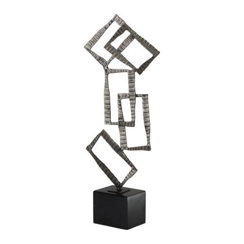Talal Sculpture - Brushed Nickel