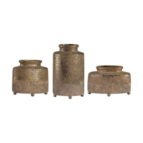 Kallie Vessels - Set of 3 - Metallic Golden