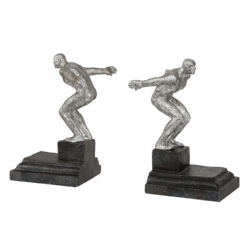 Endurance Bookends - Silver - Set of 2