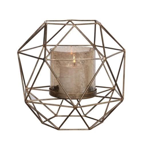 Myah Candleholder - Geometric Gold