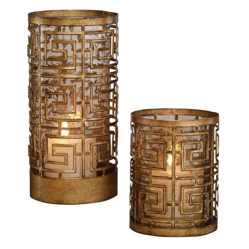 Ruhi Hurricane Candleholders - Set of 2