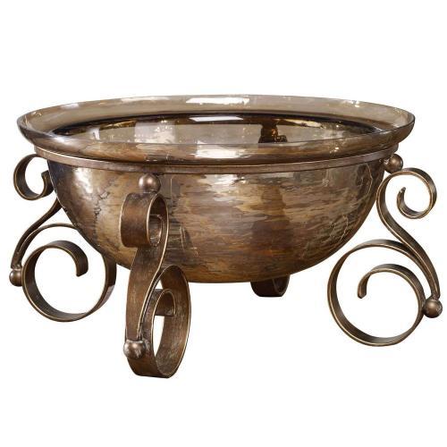 Alya Glass Bowl - Bronze