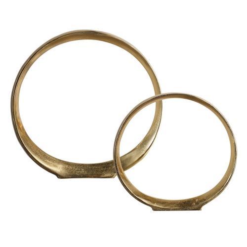 Jimena Ring Sculptures - Set of 2 - Gold