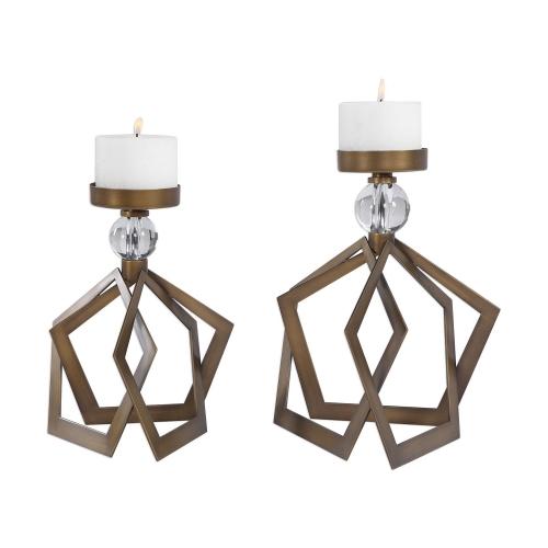 Lianna Candleholders - Set of 2 - Bronze