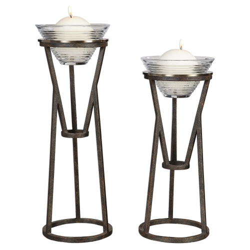 Lane Iron Candleholders - Set of 2