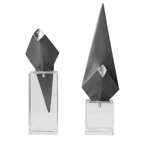 Origami Bird Figurines - Set of 2