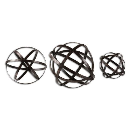 Stetson Spheres - Set of 3 - Bronze