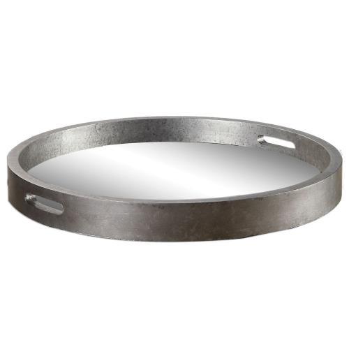 Bechet Round Tray - Silver