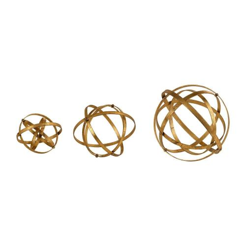 Stetson Spheres - Set of 3 - Gold