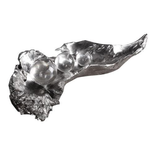 Three Peas In A Pod Metallic Sculpture