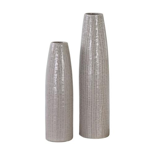 Sara Vases - Set of 2 - Textured Ceramic