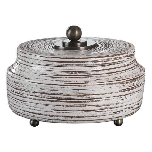 Saltillo Box - White Ceramic