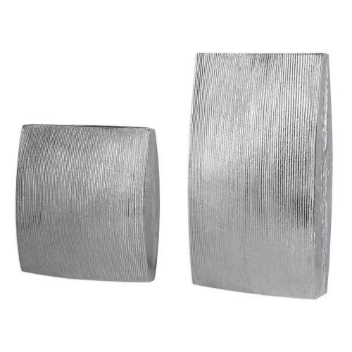 Darla Aluminum Vases - Set of 2