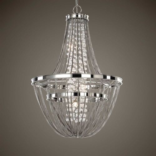 Couler 4 Light Polished Nickel Chandelier