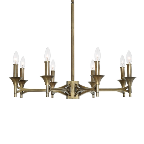 Brant 8-Light Chandelier - Aged Brass