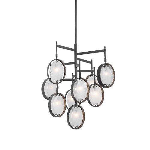 Maxin 9-Light Chandelier - Dark Bronze