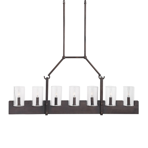 Pinecroft 7-Light Island Linear Pendant