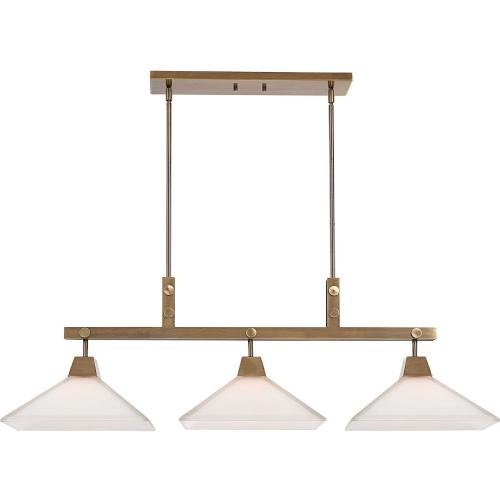 Brookdale Industrial 3 Light Linear Chandelier
