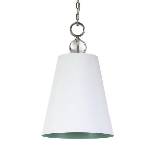 Delray 1 Light Pendant - White