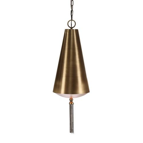 Nador 1 Light Pendant - Brass