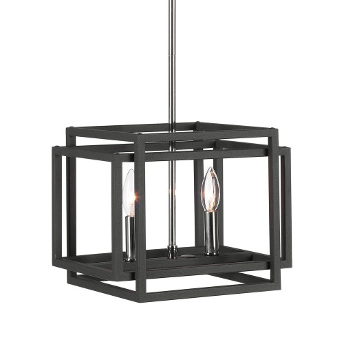 Quadrangle 2 Light Mini Pendant