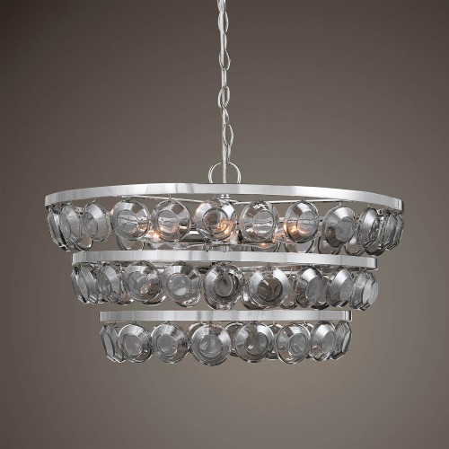Twinkle 5 Light Chandelier - Nickel