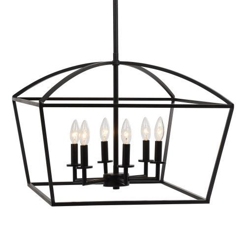 Clayton 6 Light Lantern Pendant
