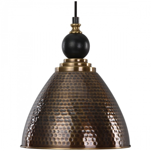 Adastra 1 Light Antique Brass Pendant Light