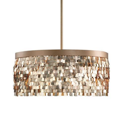 Tillie 3 Light Pendant - Textured Gold