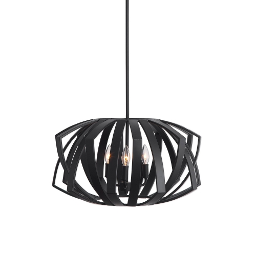 Thales 3-Light Pendant - Black Geometric